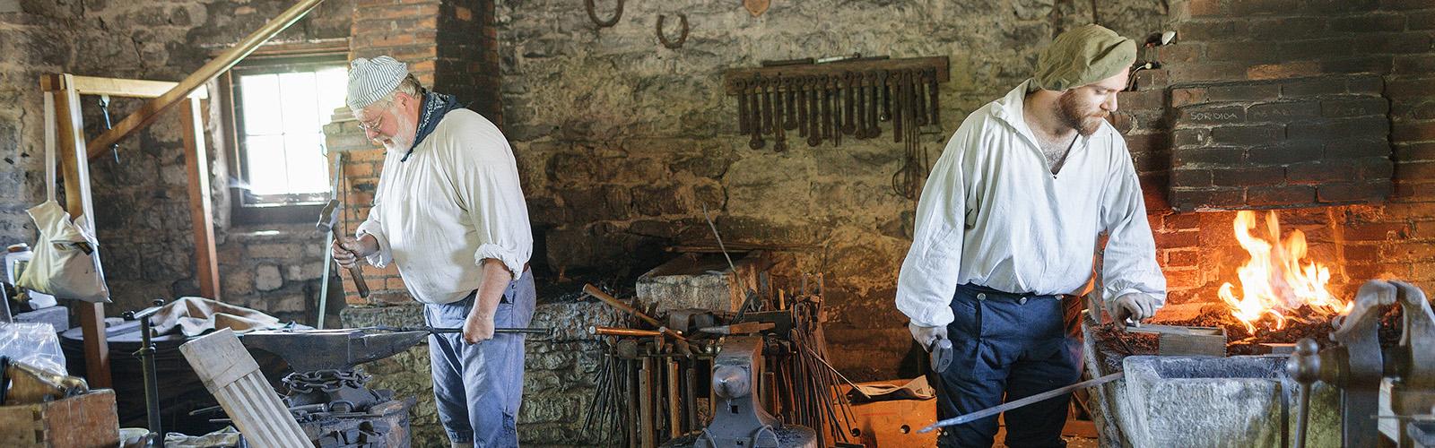 Fort Klock blacksmiths